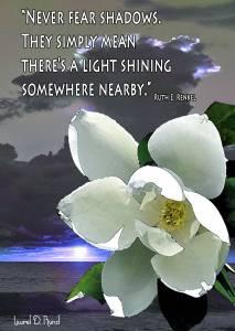 Illumination quote card by Laurel D. Rund